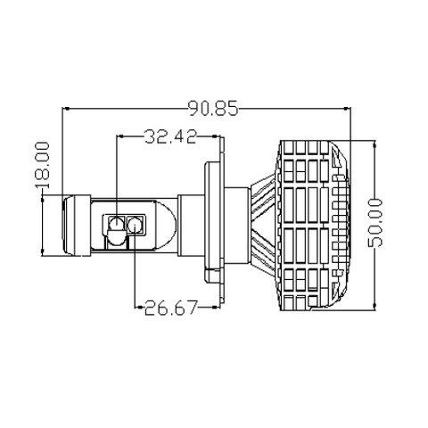 Набор светодиодного головного света UP-6HL (H4, 3000 лм, совместим с CAN-шиной) Превью 3