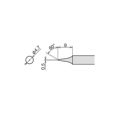 Паяльне жало Goot RX-80HRT-0.5C Прев'ю 1