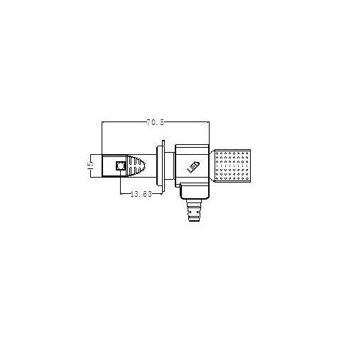 Набір світлодіодного головного світла UP-5HL-H7W-CR-2500Lm (H7, 2500 лм, холодний білий) Прев'ю 4