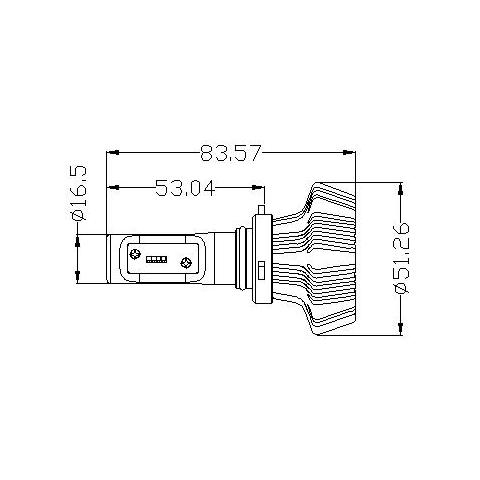 Набір світлодіодного головного світла UP-7HL-9006W-4000Lm (HB4, 4000 лм, холодний білий) Прев'ю 1