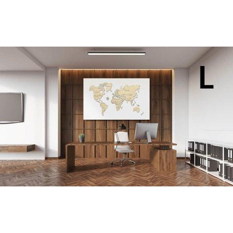 Дерев'яний 3D-пазл Wooden.City Мапа світу (розмір L) Прев'ю 2