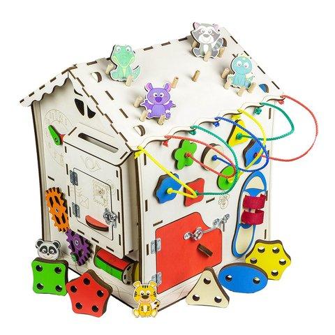 Бізіборд GoodPlay Будиночок для розвитку (30×30×40) Прев'ю 1