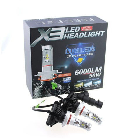 Car LED Headlamp Kit UP-X3HL-H4W-6000LM (H4, 6000 lm, cold white) Preview 2